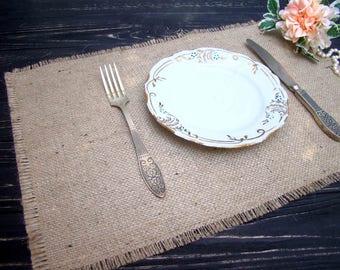 Burlap Wedding Table Setting Rustic Placemat Table Topper Hessian placemat Burlap Table Runner Rustic Overlay Farmhouse table decor