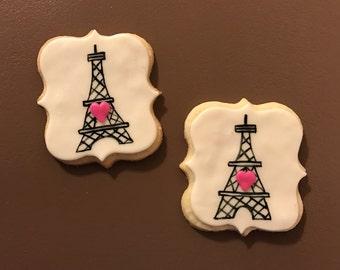 Eiffel Tower Cookies