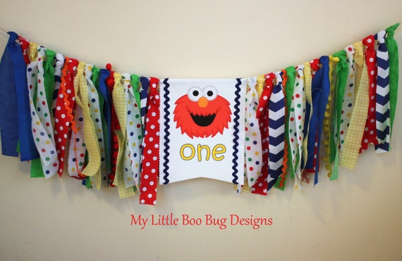 Elmo Sesame Street Highchair Banner