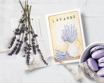 Lavender • Greeting cards • business card print • Instant download