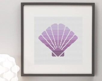 Seashell Cross Stitch Pattern