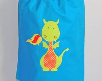 Towel reversible elastic Ti dragon - blue and green