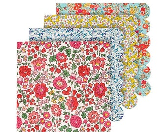 Liberty Large Napkins, Meri Meri Floral Napkins in 4 Designs, Flower Paper Napkins, Baby shower, Birthday, Bridal Shower, Wedding Napkins