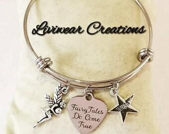 Fairytales Do Come True, Fairy Charm Bangle, Wish, Birthday, Wedding Gift