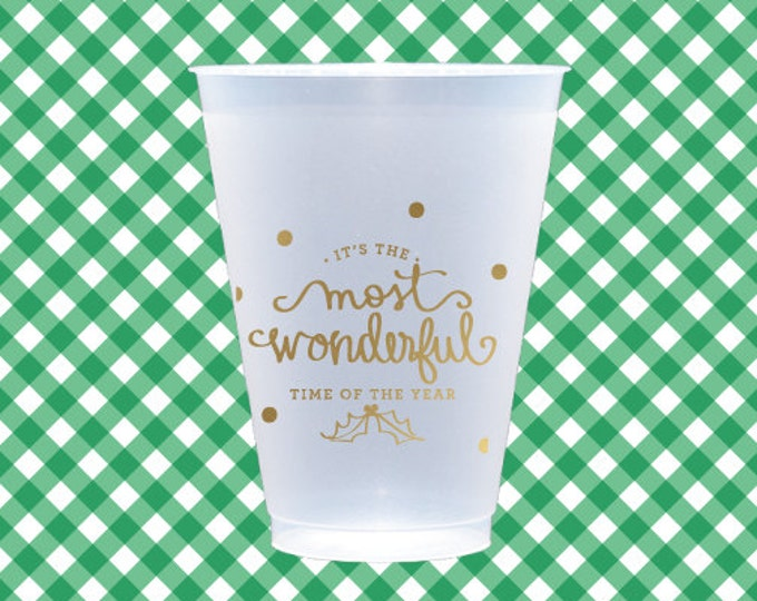 Most Wonderful Christmas Cups (reusable) - Qty 12