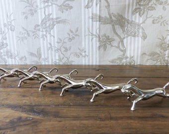 A Set of Six Vintage French Silver Plated Horse Knife Rests - Stallion Knife Rests - Animal Knife Rests- French Table - Equestrian Gift