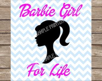 Barbie Svg Barbie Girl svg Princess svg Pink Girl Svg files Dxf Silhouette Cameo Cut File Svg designs Cutting Files vinyl heat transfer