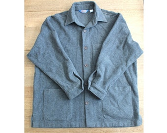 Vintage Pendleton 100% Virgin Wool Mens XL Heather Gray Jacket