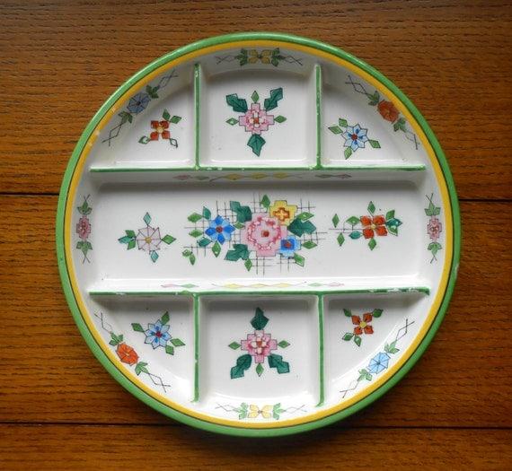 Moriyama Handpainted Relish Plate