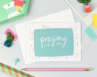 Praying For You | Encouragement Card | Just Because Card | Christian Card | Thinking of You Card