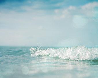 original ocean photo print, fine art photography print, large size wall art, nautical decor, sea ocean waves water surf beach house decor