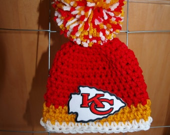Kansas City Chiefs football hat, Kansas City Chiefs baby hats, newborn Kansas City Chiefs hat, Kansas City Chiefs photo props, baby Chiefs