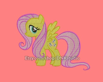 My Little Pony Fluttershy Embroidery Design - 6 Sizes - INSTANT DOWNLOAD