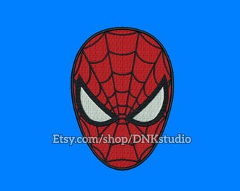 Spiderman Head Face Embroidery Design - 5 Sizes - INSTANT DOWNLOAD