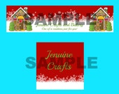 Custom made holiday shop cover photo and avatar sets