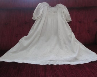 Sweet Batiste Edwardian Christening Gown/Daisy Embroidered  #17011