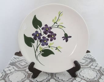 Blue Ridge Pottery French Violets Plate  #17157
