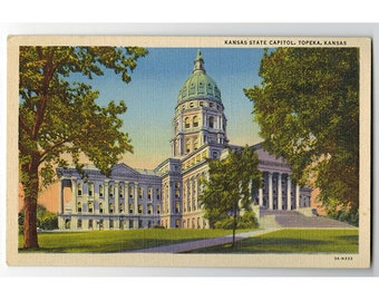 Kansas Postcards Etsy