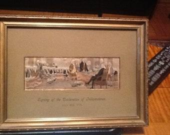 Fantastic original  Stevensgraph 'Signing of the Declarations of Independence'.