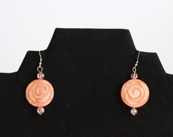 Orange Sherbert Earrings E25