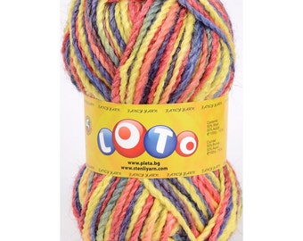 Wool High Quality Bulgarian winter yarn. Pack of five skeins. Yarn for hand-knit and crochet. Bulky yarn for sokcs, scarves, hats and more