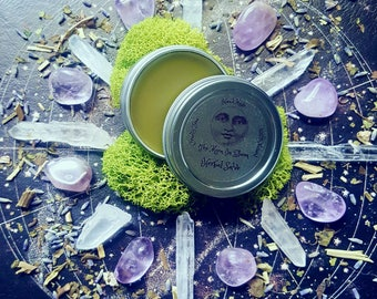 Sleep To Dream Salve-One 1oz Tin Of Sleep & Dream Inducing Natural Handmade Salve-Lavender, Mugwort, Hops, Valerian-Natural Sleep Aid