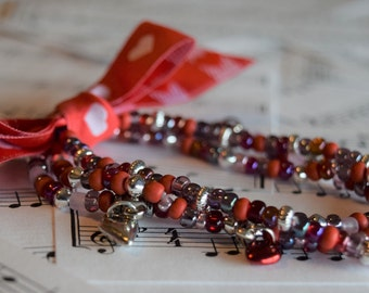 Elastic Red Variation (3) Romantic Bracelets V05
