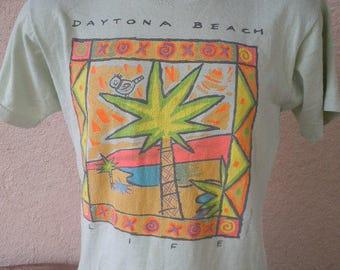 Size L (46) ** Dated 1989 Daytona Beach Shirt (Double Sided)