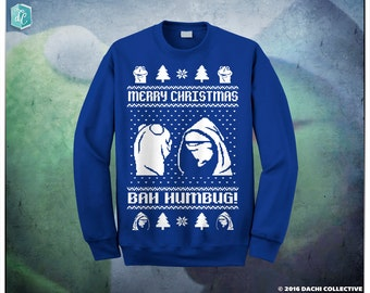 Evil Kermit Meme Bah Humbug! Ugly Christmas Sweater Pick Your Size S - 3XL!!! **Priority Shipping** Black Friday Sale