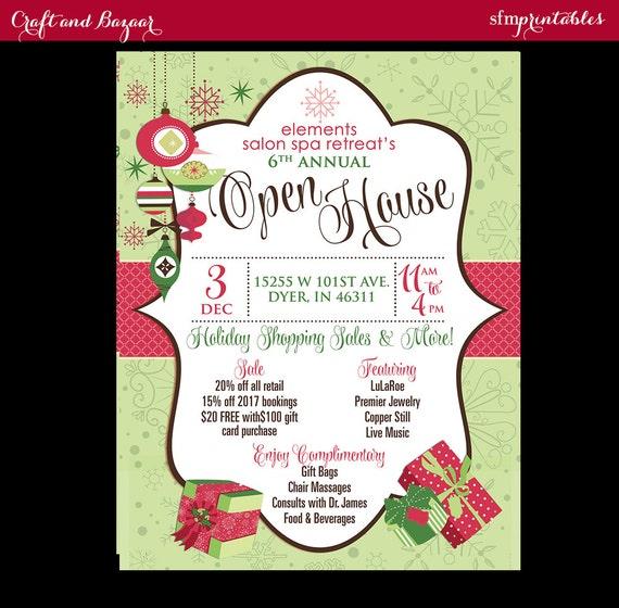 open house retail salon store business christmas bazaar