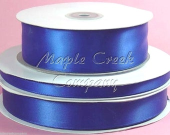 1-1/2 inch x 50 yards of Royal Blue Double Face Satin Ribbon - shines on both sides