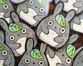 HAND DRAWN Glittery Totoro Sticker by Michelle Coffee