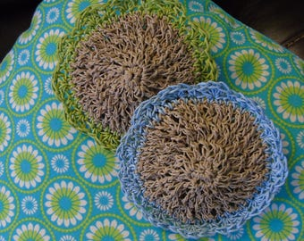 100% HEMP ANTIBACTERIAL Kitchen Scrubbies