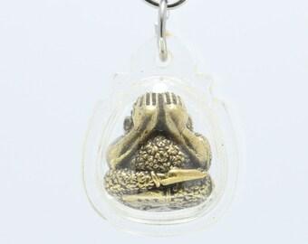 Thai Amulet pendant Phra Pidda , Protect from dangerous.