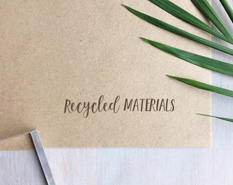 Mini Recycled Materials Stamp | Recycled Stamp - Recycle Symbol Stamp - Packaging