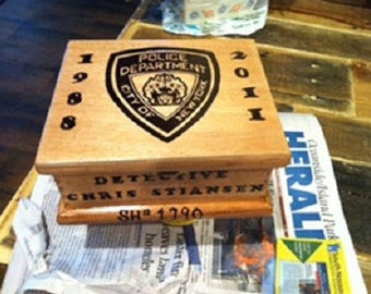 Cigar boxes, personalized, wood burned, trinket box, jewelry box, re-purposed wood,