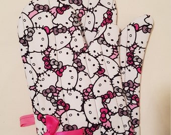 Hello Kitty Oven Mitts!