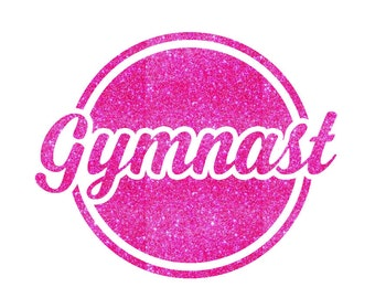 Gymnast Text Iron On Decal