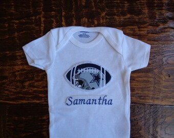 Dallas cowboy onesie etsy dallas cowboys personalized baby onesie negle Gallery