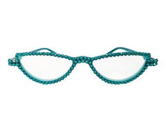 Totally Teal (Swarovski Crystal Covered Reader Glasses)