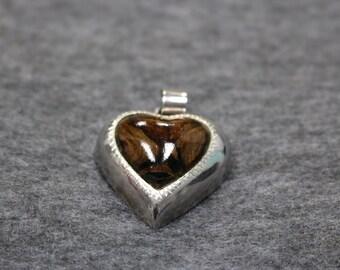 Sterling Silver, Vintage Heart-Shape Pendant
