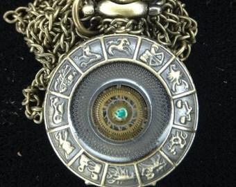 Gear pyramid Locket Watch