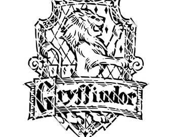 Harry Potter Gryffindor  Crest - Detailed SVG file