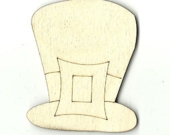 Leprechaun Hat - Laser Cut Out Unfinished Wood Shape Craft Supply PAT1