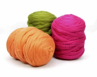 1kg/2,2Ib - DIY polish merino wool blanket arm knitting big chunky yarn 51 colours to choose