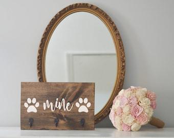 Mine Single Paw Key Holder and Dog Leash Holder, Entryway Organizer, Key Organizer, Wedding Gift, Housewarming Gift, Key Hooks, Leash Holder