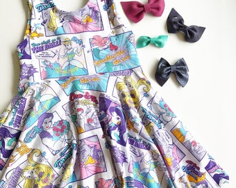 Comic book princesses twirly dress