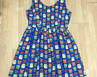 Dress Made with Muppets Fabric