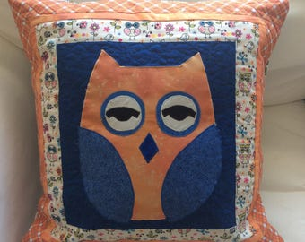Owl Quilted Pillow Covee