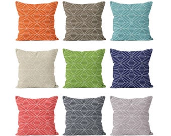 45 colors Hexagon Pillow Cover, graphic pillow cover, spider web decor, halloween pillow cover, fall pillow cover, geometric pillow cover